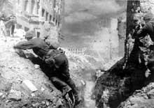 Soldats Soviétiques à Stalingrad