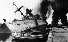 Toulon : le suicide de la flotte française entre le prétendant américain et le prétendant allemand : 3 cuirassés, 7 croiseurs, 25 destroyers, 26 sous-marins et des navires auxiliaires