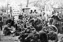 Fin août 1943 : prisonniers allemands quelque part en Ukraine