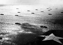 Un convoi en Atlantique nord. Janvier 1942
