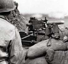 Mitrailleur américain à Anzio