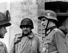 Libération de Cherbourg : reddition d'un officier allemand aux Américains