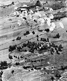 Parachutage de l'US Air Force sur le maquis du Vercors