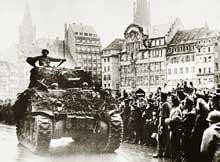 Un char de l'armée Leclerc à Strasbourg