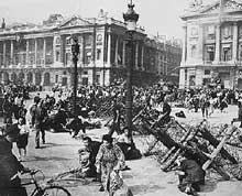 Scène de la libération de Paris