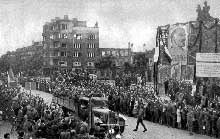 Libération de Sofia, Bulgarie, par les troupes soviétiques