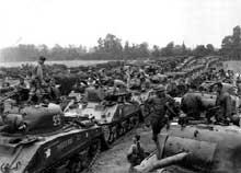 Chars « Sherman » de la division Leclerc