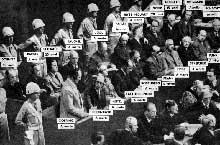 Procès de Nuremberg : Göring, Hess, Rosenberg et Keitel au premier rang
