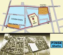 Pinsk : plan du ghetto