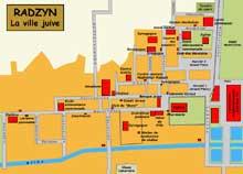 Radzyn: plan de la ville juive