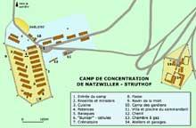 Natzweiler – Struthof: plan de situation générale du camp.