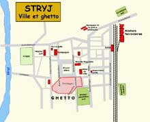Stryj : plan du ghetto