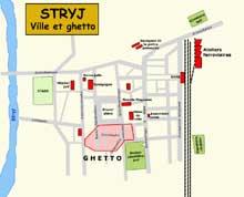 Stryj: plan du ghetto