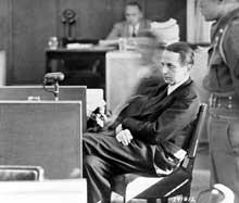 Otto Ohlendorf lors de son procès à Nuremberg