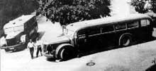 L'autobus de Hadamar servant à transporter les malades vers la mort..