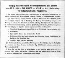 10 août 1939: juste avant les premiers jours de la guerre, mot d'ordre explicitant les actions d'euthanasie vis-à-vis des enfants nouveau nés..