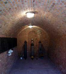 Poznan: la chambre à gaz du fortVII où furent gazés les malades de l'institut d'Owinska