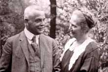 Le professeur Karl Bonhoeffer et son �pouse Paula