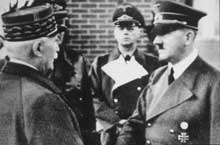 Montoire: face à face, le vainqueur de Verdun et l'ex-caporal autrichien… Les rôles sont inversés