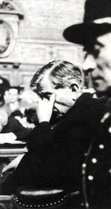Pierre Laval lors de son procès