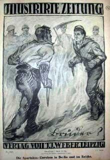 Affiche du 23 janvier 1919 fustigeant les troubles provoqués par les spartakistes à Berlin