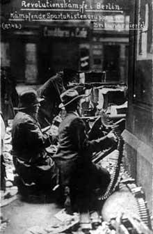 Spartakistes durant la bataille de Berlin