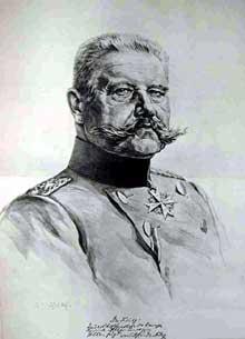 Paul Ludwig Hans Anton Von Beneckendorff und Von Hindenburg, (1847-1934), président de la république de Weimar. Portrait de l'Illustrierte Zeitung, 1910