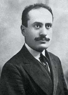 Benito Mussolini juste après la guerre
