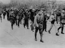 Ouvriers prisonniers lors de la répression du mouvement de mars en Halle-Mansfeld