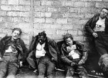 Ouvriers des usines Leuna tués au cours des affrontements de mars 1921 à Halle-Mansfeld