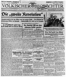 Une page du « Völkischer Beobachter »