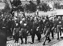 Mussolini durant la « Marche sur Rome »