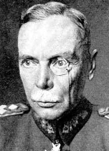 Le général Hans Von Seeckt (1866-1936), « patron » de l'armée, un des hommes forts du régime en 1923. Il dispose pratiquement de pouvoirs illimités