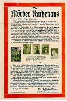 Affiche sur les meurtriers de Walter Rathenau