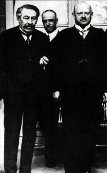 Aristide Briand et Gustav Streseman, les chevilles ouvrières du pacte de Locarno