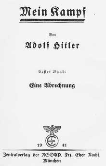 « Mein Kampf », tome I. Edition de 1941