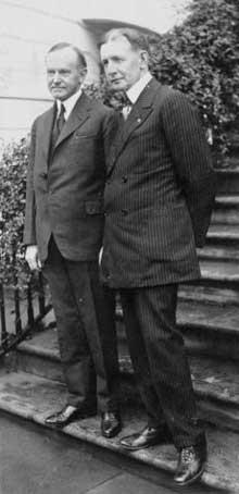 Le président Coolidge et Charles Gates Dawes