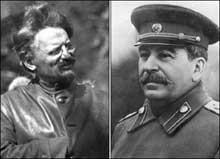 Staline et Trotski : une fois au pouvoir, Staline n'aura de cesser de s'acharner sur son ennemi. Il lui enverra ses tueurs Jusqu'au Mexique