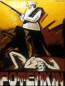 """L'affiche du « Cuirassé Potemkine » d""""Eisenstein"""