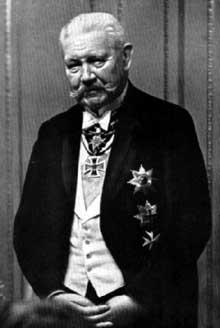 Paul Von Hindenburg, président de la république de Weimar