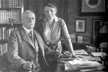 Le médecin et philosophe Mathilde Von Kemnitz et le général Ludendorff, son second époux