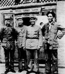Mao Tsé Tung et ses compagnons