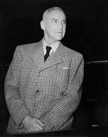 Wilhelm Frick (1877-1946) au procès de Nuremberg