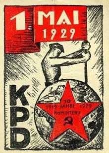 Affiche du parti communiste pour le 1 mai 1929