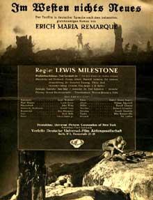 Affiche du film de Milestone « A l'ouest rien de nouveau