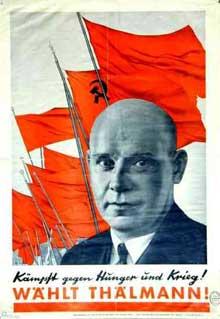 Affiche électorale du KPD pour l'élection présidentielle de 1932
