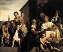 Jan de Bray: les enfants de l'orphelinat de Haarlem. 1663. Huile sur toile. 135 x 154 cm. Haarlem, Musée Frans Hals