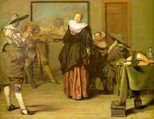 Peter Codde: la leçon de danse. 1627. Huile sur bois. Paris, muse du Louvre