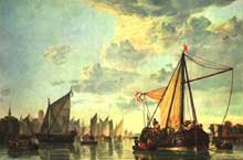 Albert Cuyp : la Meuse à Dordrecht. Vers 1660. Huile sur toile, 115 x 170 cm. Washington, National Gallery of Art