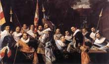 Franz Hals: le banquet des arquebusiers de Saint Adrien. 1633. Huile sur toile, 207 x 337 cm. Haarlem, Musée Frans Hals
